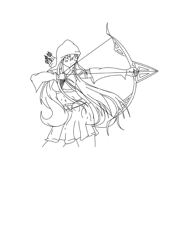 576x792 Girl Archer