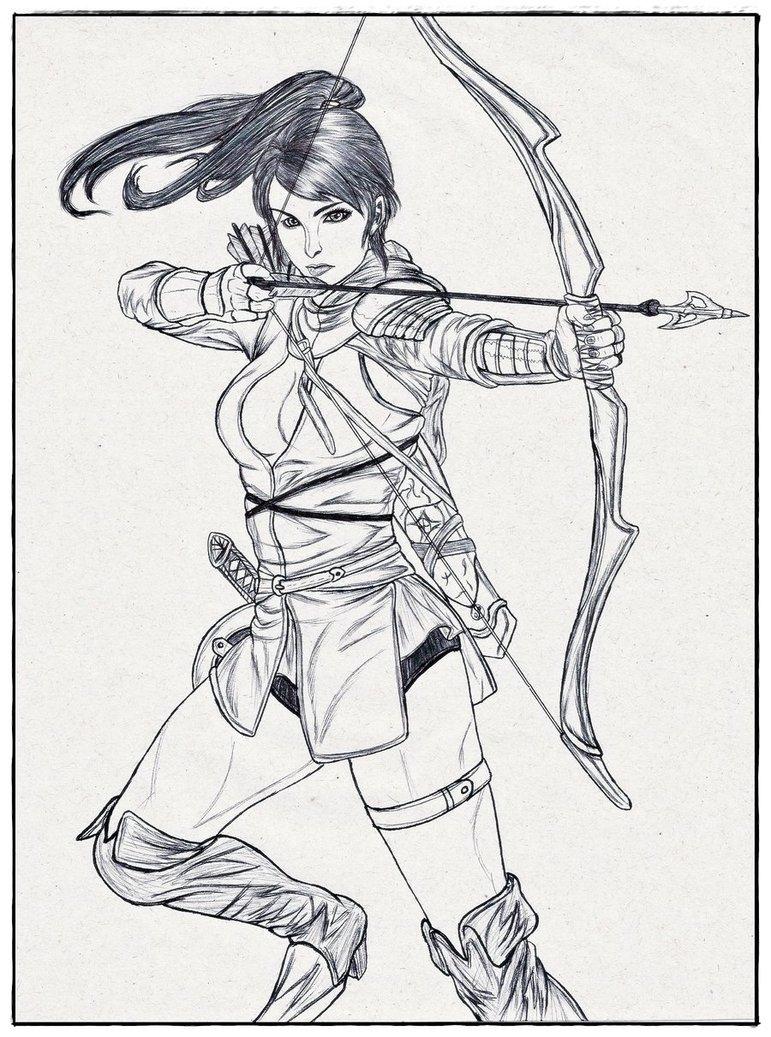 771x1037 Girl Archer By Carldraw