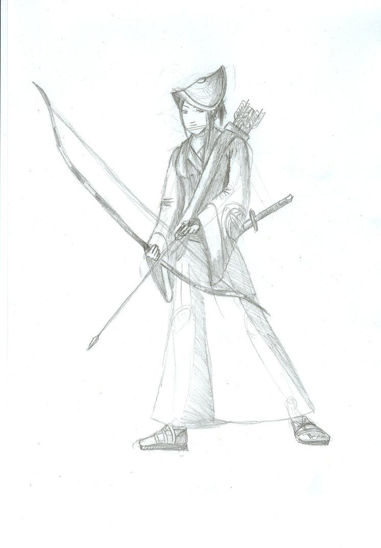 746x1072 Samurai Archer Girl By Aneirin Aryon