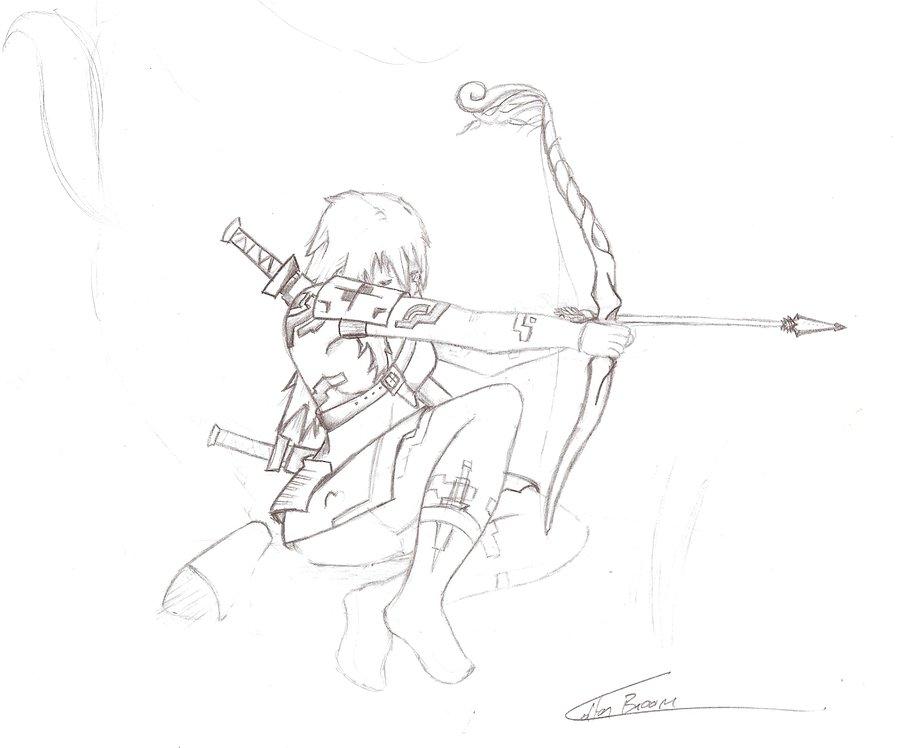 900x748 Cyber Fantasy Female Archer By Theaceintone