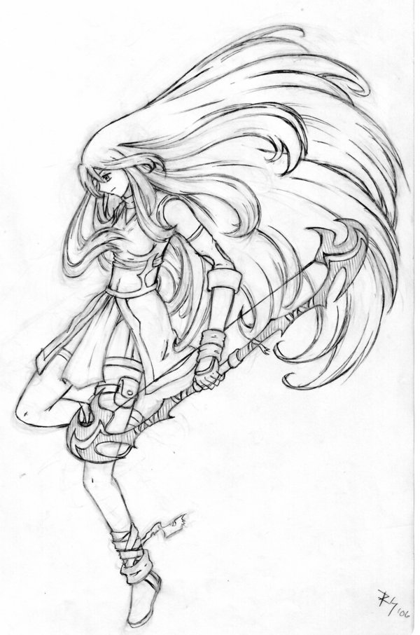 600x906 Female Archer By R Chie