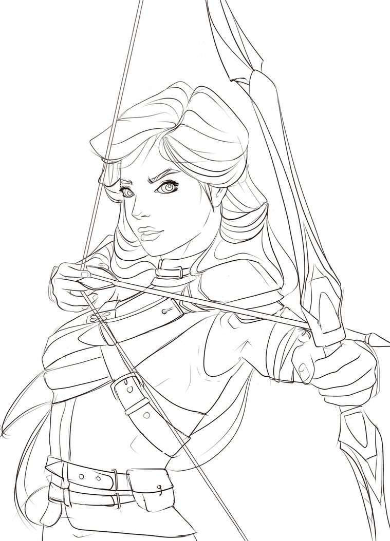 759x1054 Archer Lineart By Domtig
