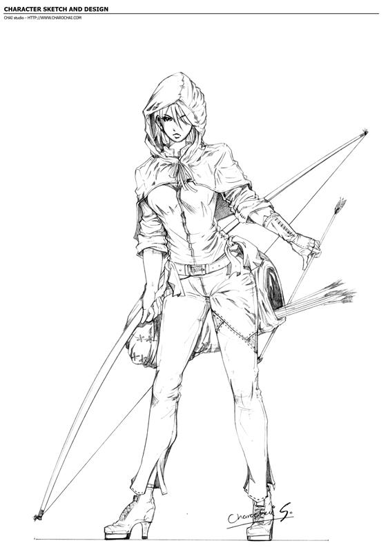562x800 Archer From Sherwood Forest. By Charochai