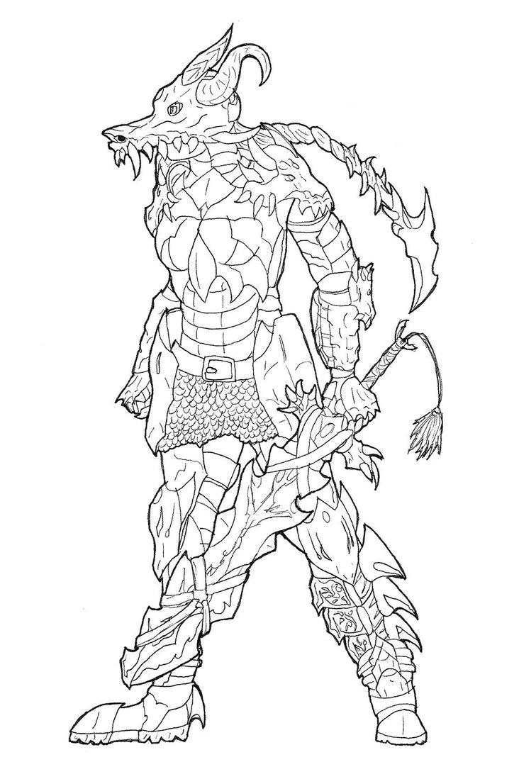 732x1092 Dragonian Warrior Female Armor (Wip) By Lerua