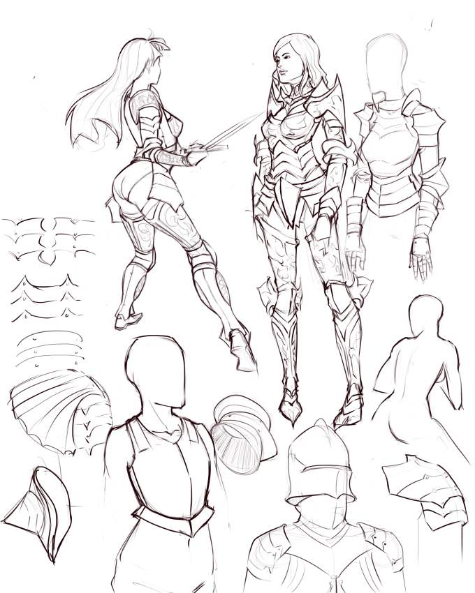 680x850 Drawing Armor