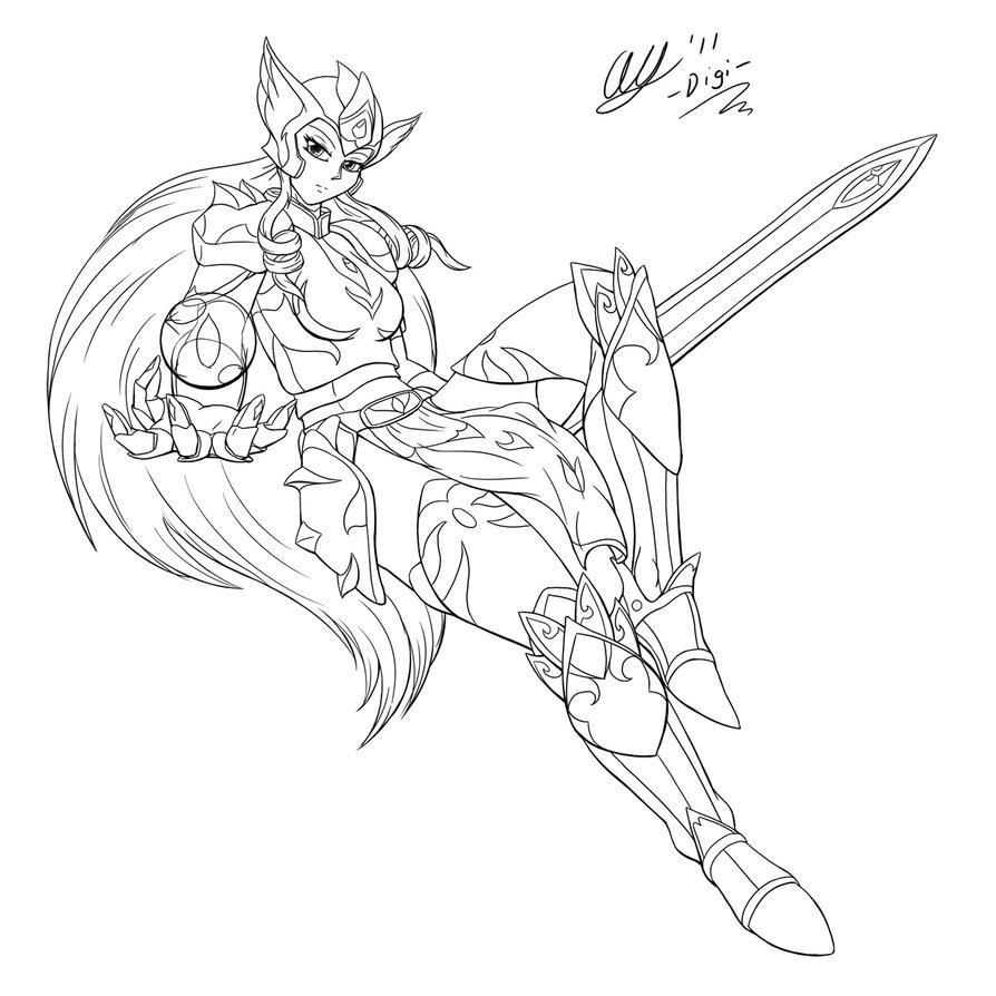 894x894 Female Knight By Leonkatlovre