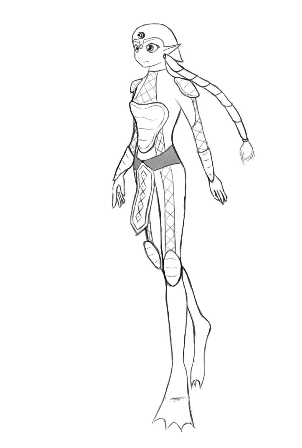 1024x1520 Female Zora Armor By Bluegardevoir