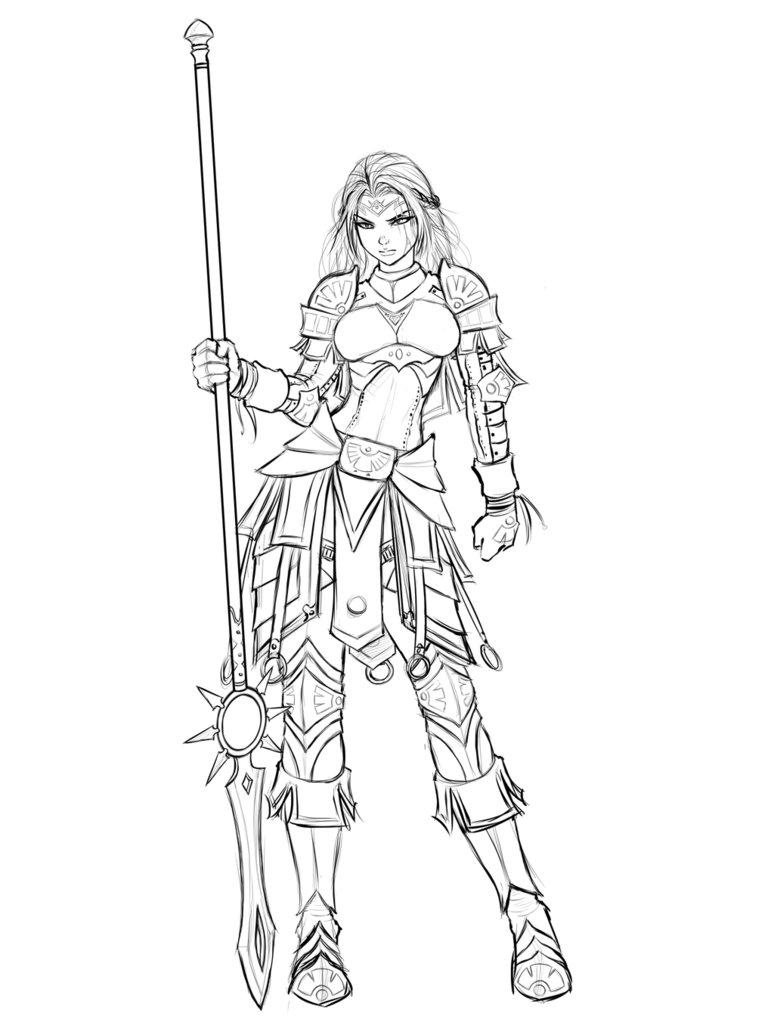 774x1032 Imelda Allwarrior, Armored Maiden