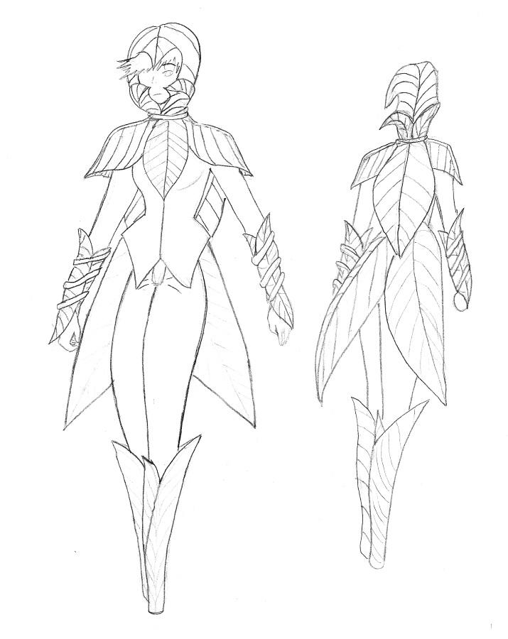 715x900 Leaf Female Blade Armor By Bnaha