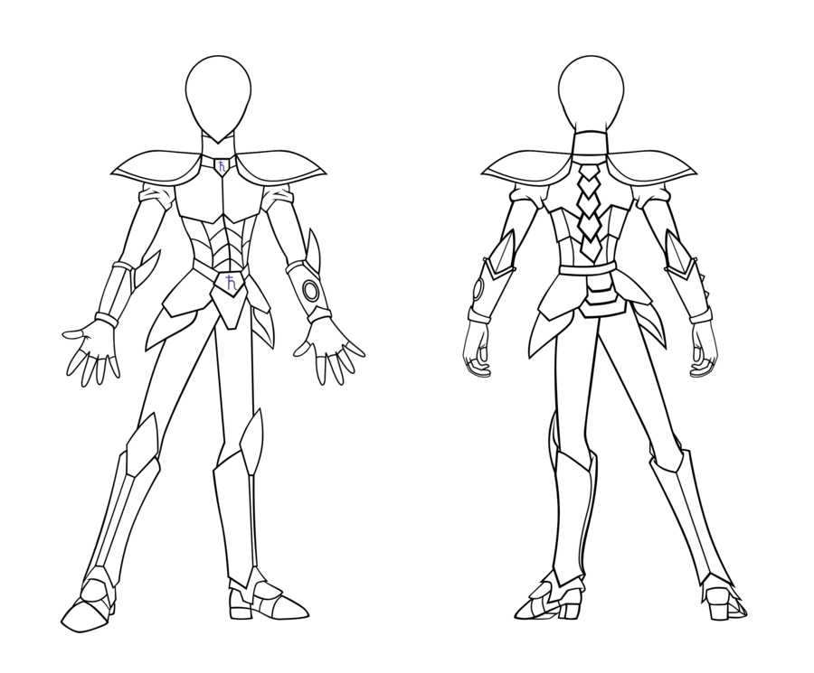 900x745 Lineart Updated Senshi Knight Armor By Saturngrl
