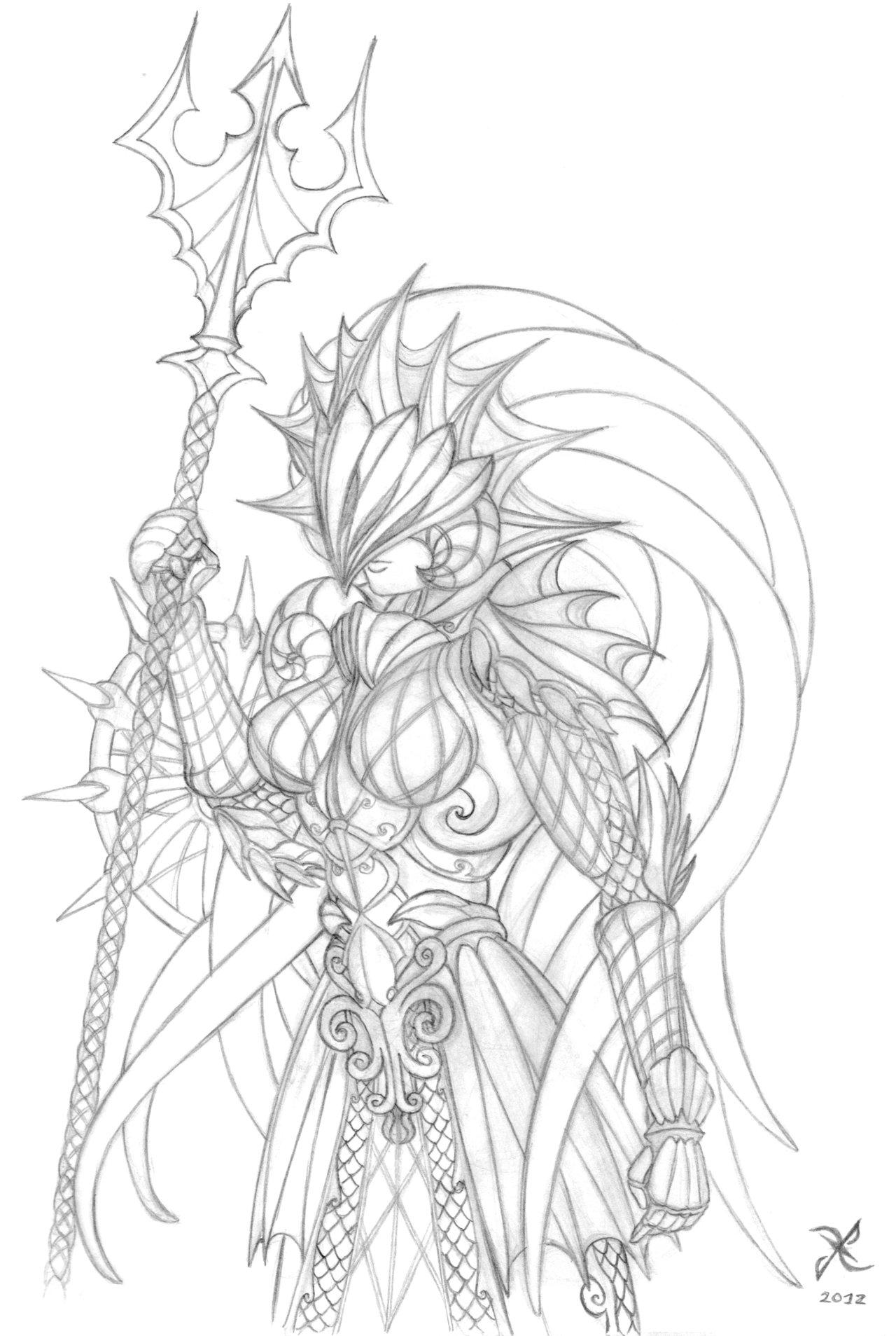 1280x1907 Aqua Armor Sketch By Scificat
