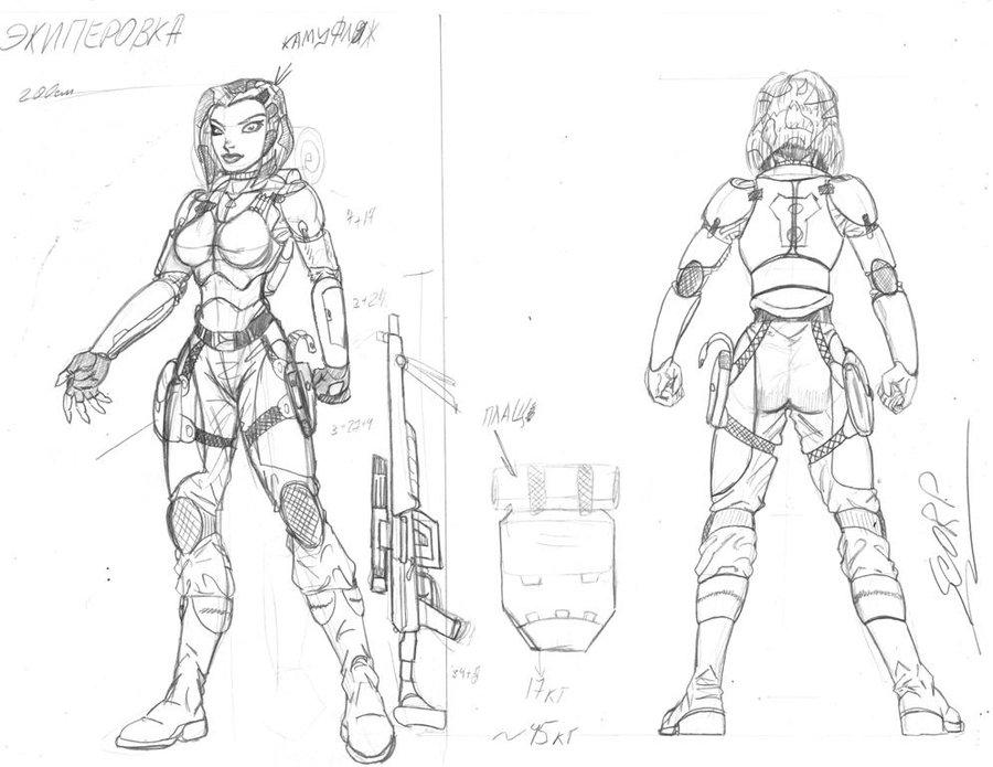 900x695 Armor Reconnaissance. Female Version By Scorp106