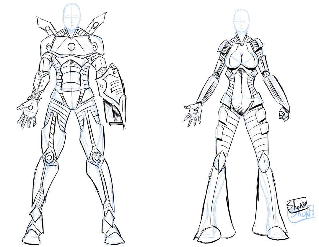 1080x835 Draw Male Armor