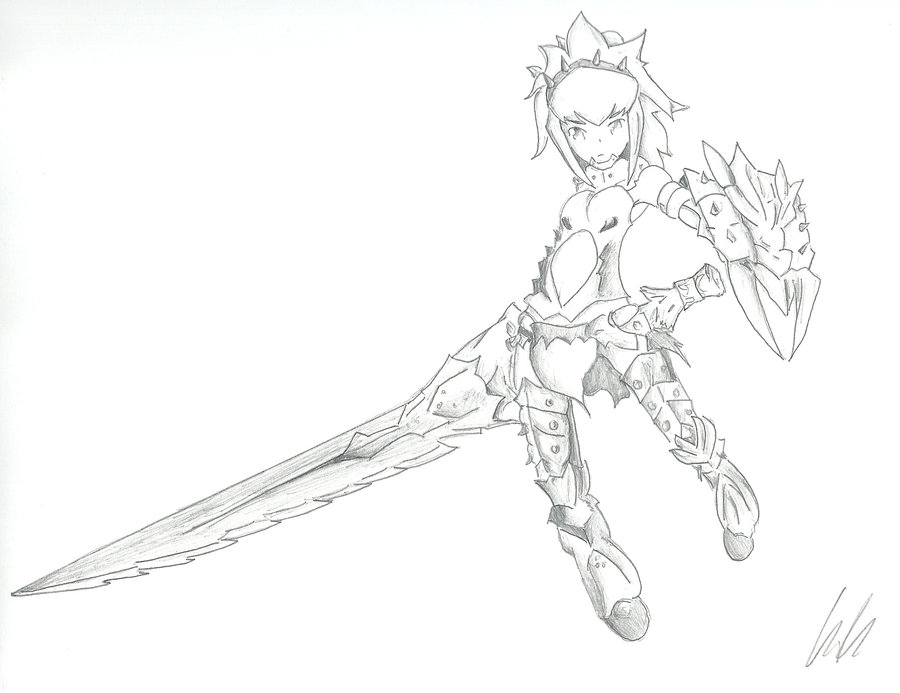 900x693 Monster Hunter Female Barioth Armor By Sinthmodeon