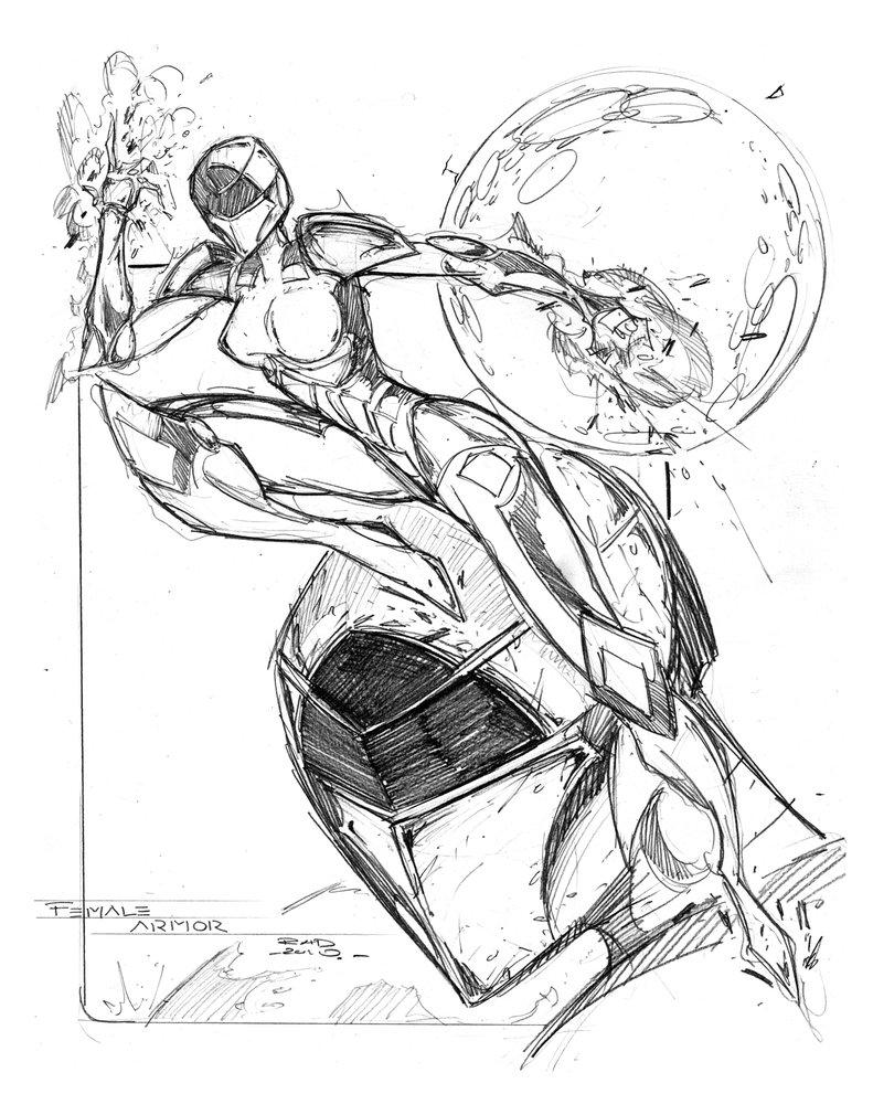 791x1010 Commission Female Armor By Robduenas