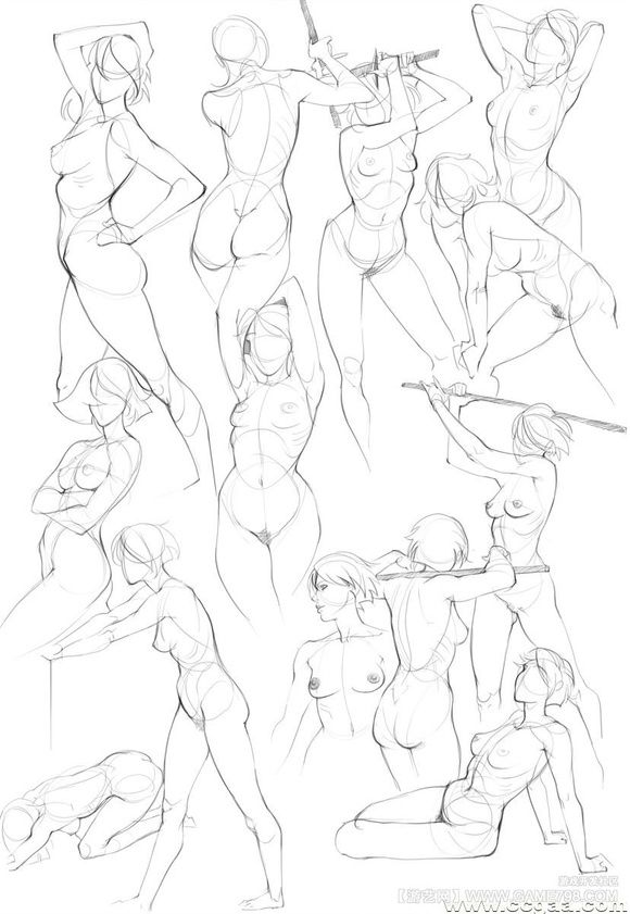 580x841 Noelito Flow Female Bodies, Sketches And Bodies