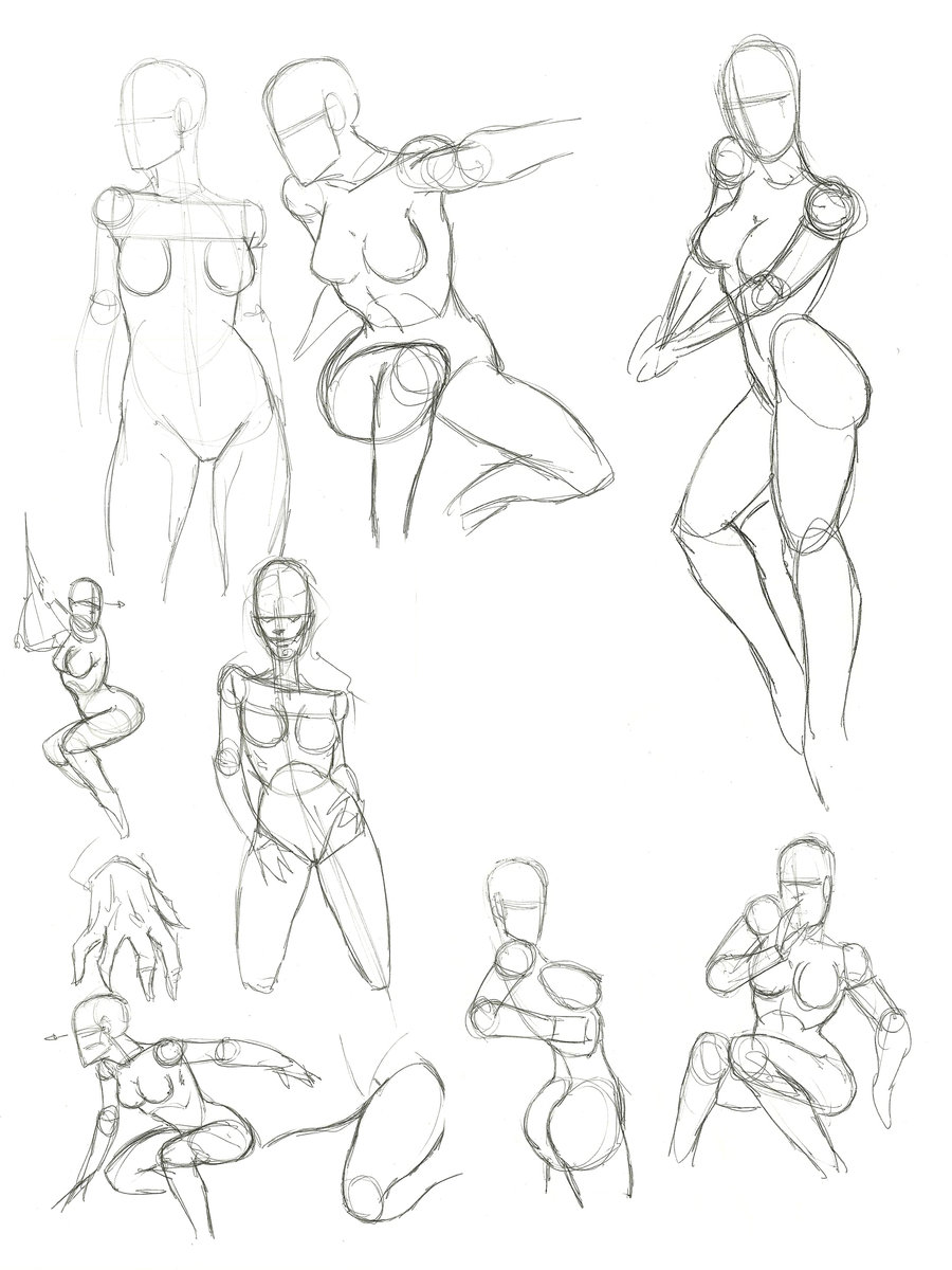 900x1200 How To Draw A Female And Womans Anatomy Muscles Form Sletching (12