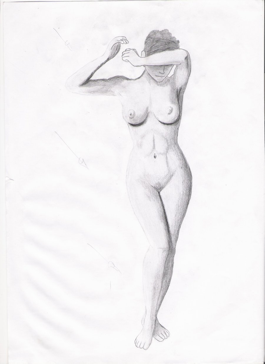 sketches Naked girl