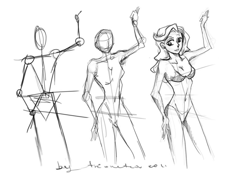 806x616 Female Body Proportions By Avionetca