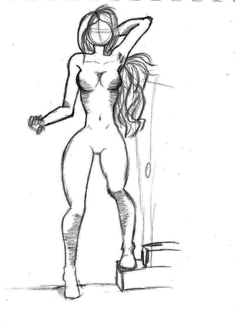 763x1047 Female Body Sketch By Coniistar