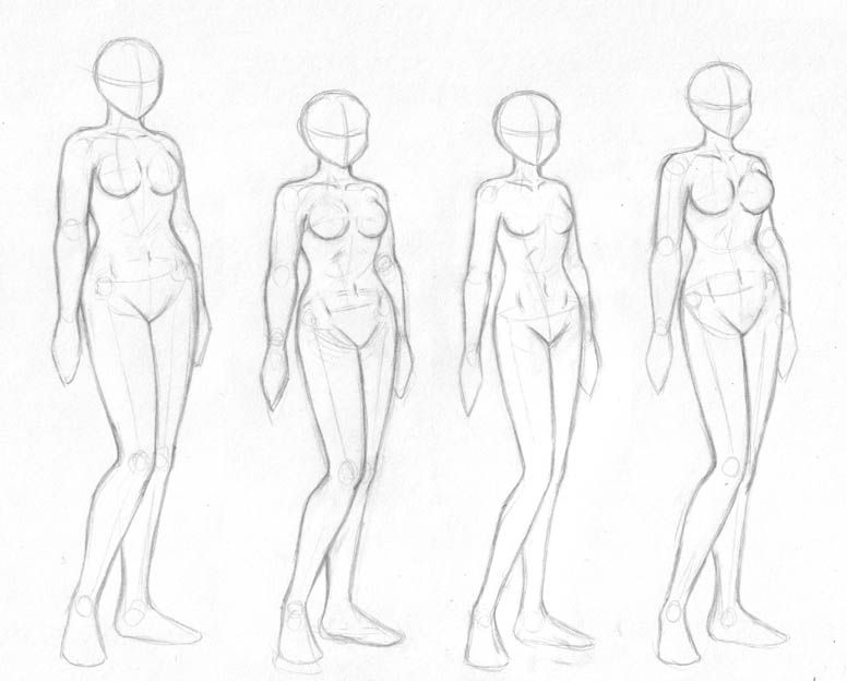 776x624 Female Body Sketches By On @