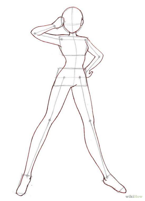 550x764 Manga Clipart Female Body