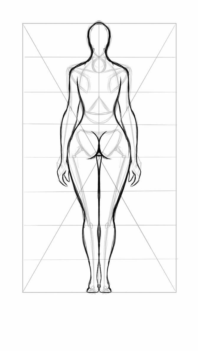 670x1191 Beginner Female Body Sketch (Back) By Inonsenzehd