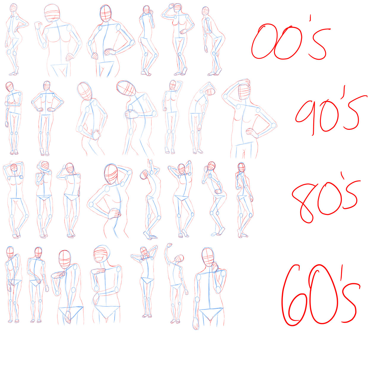 1280x1280 Sketch Dump Female Body Types By Yo Yo Boyo
