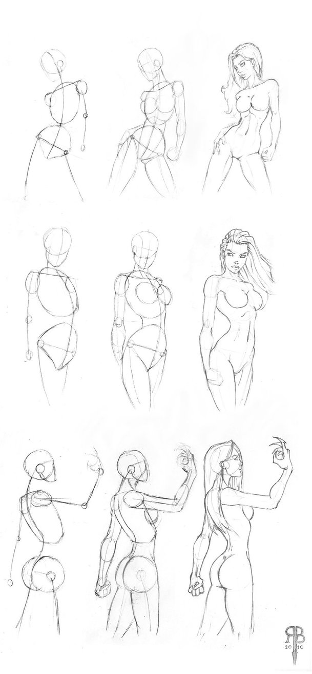 609x1313 Female Body Shapes Part 2 By Rofelrolf