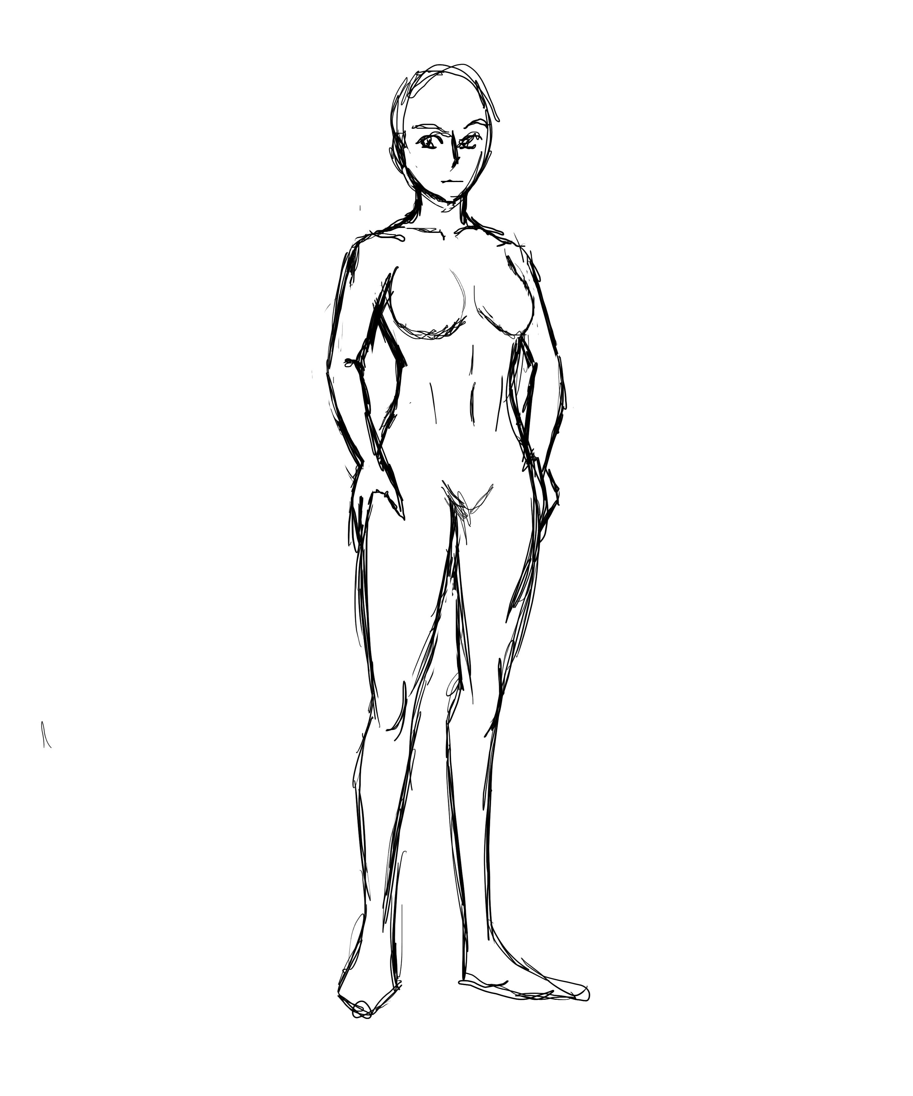 3000x3600 Female Body Template By Nalini Dahlia