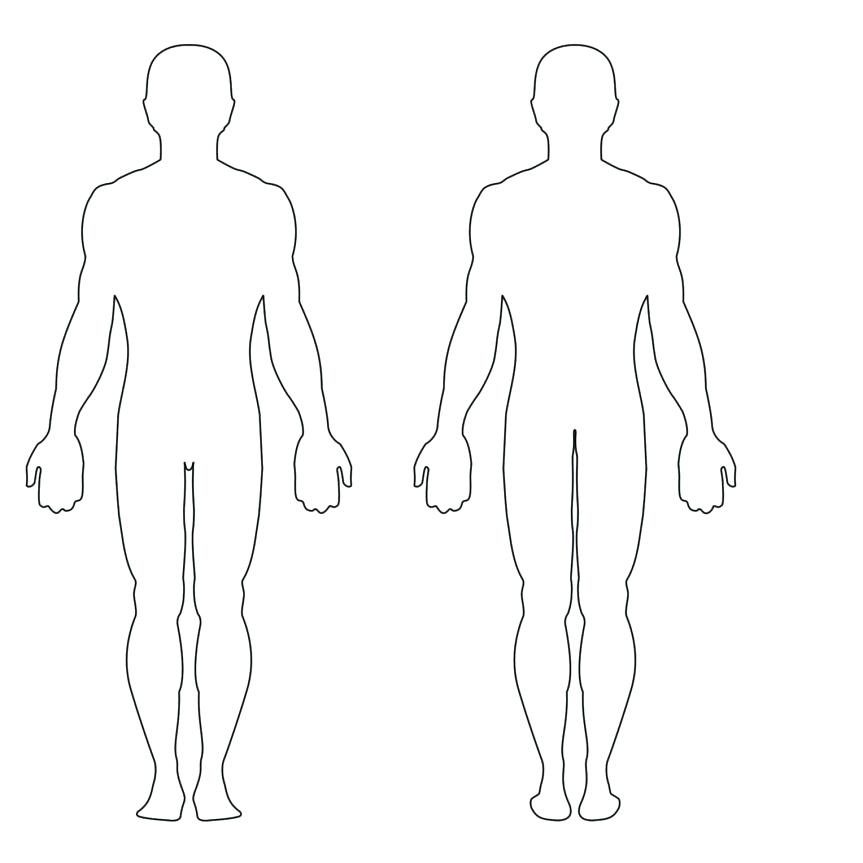 863x863 Outline Of Body Draw Female Body Body Outline Template Medical