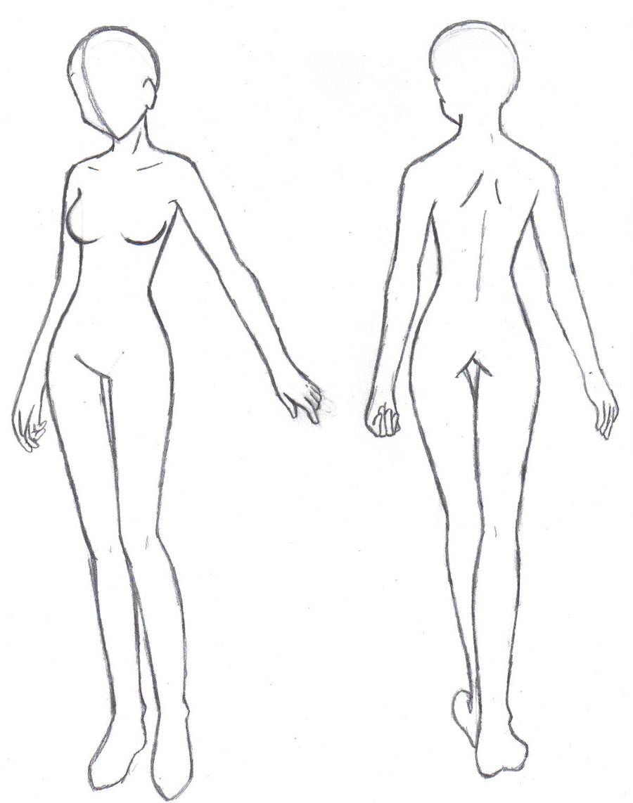 Female Body Drawing Template at GetDrawings com | Free for personal