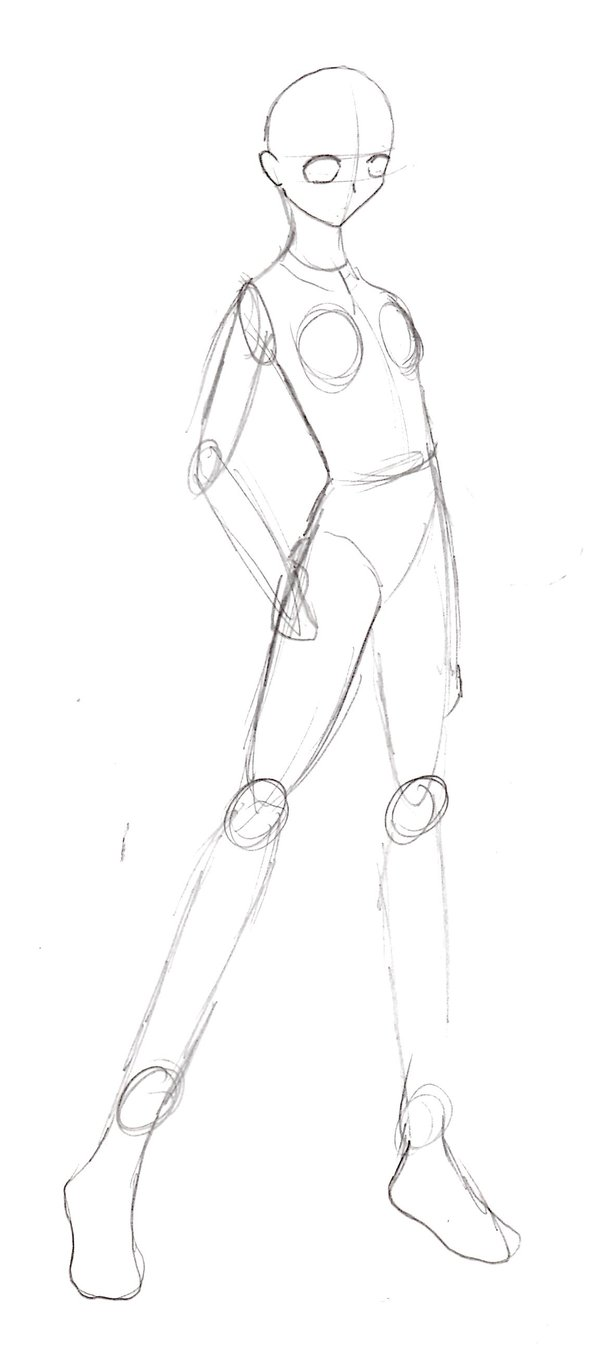 593x1348 Female Body Base Sketch By Michelle Mystery