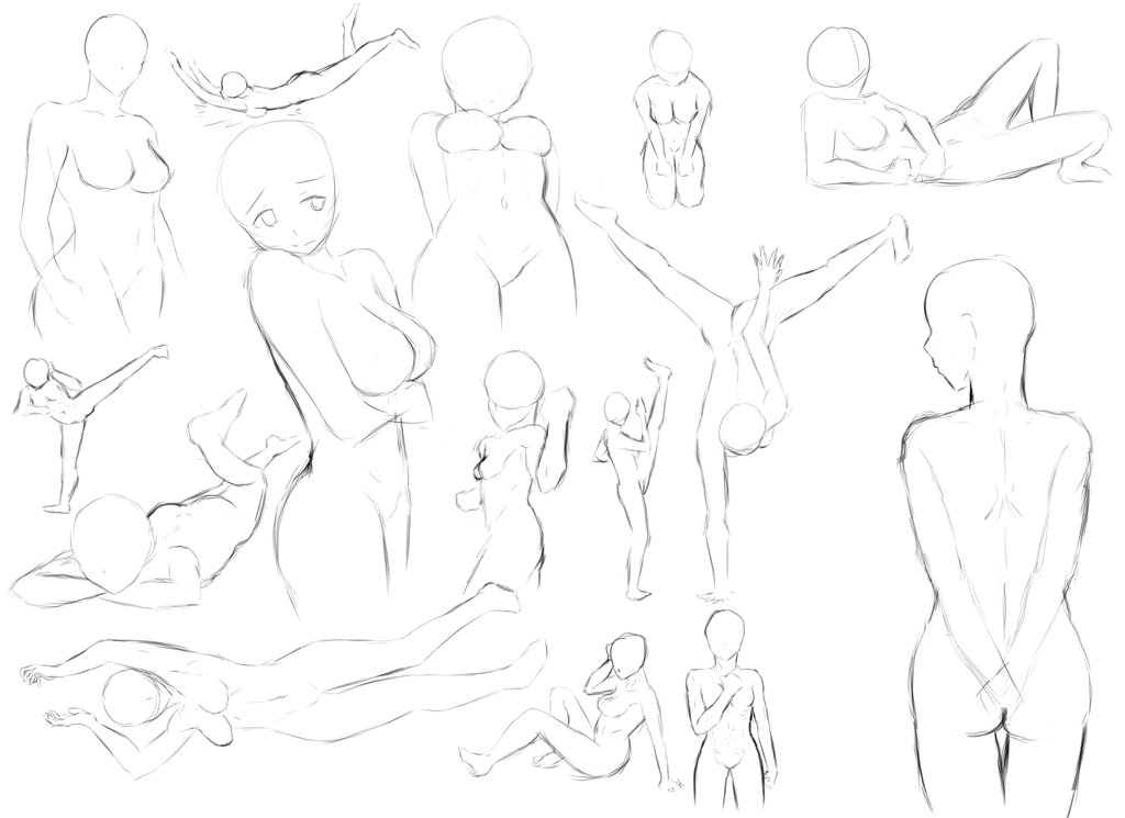 How To Draw Female Body Poses