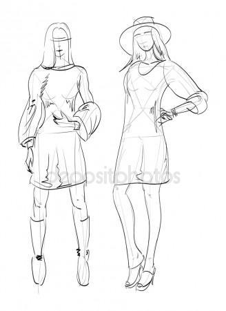 328x450 Female Body Shape Male Body Mass Illustration Stock Vector