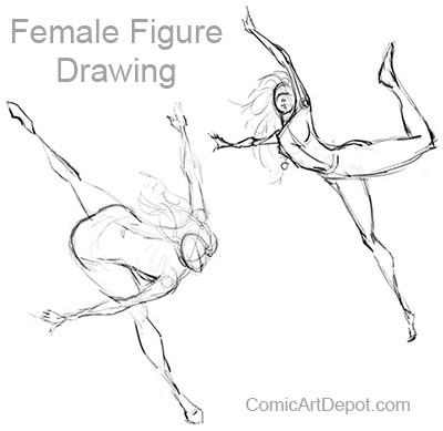 400x389 Figure Drawing Tutorial Comic Art Depot