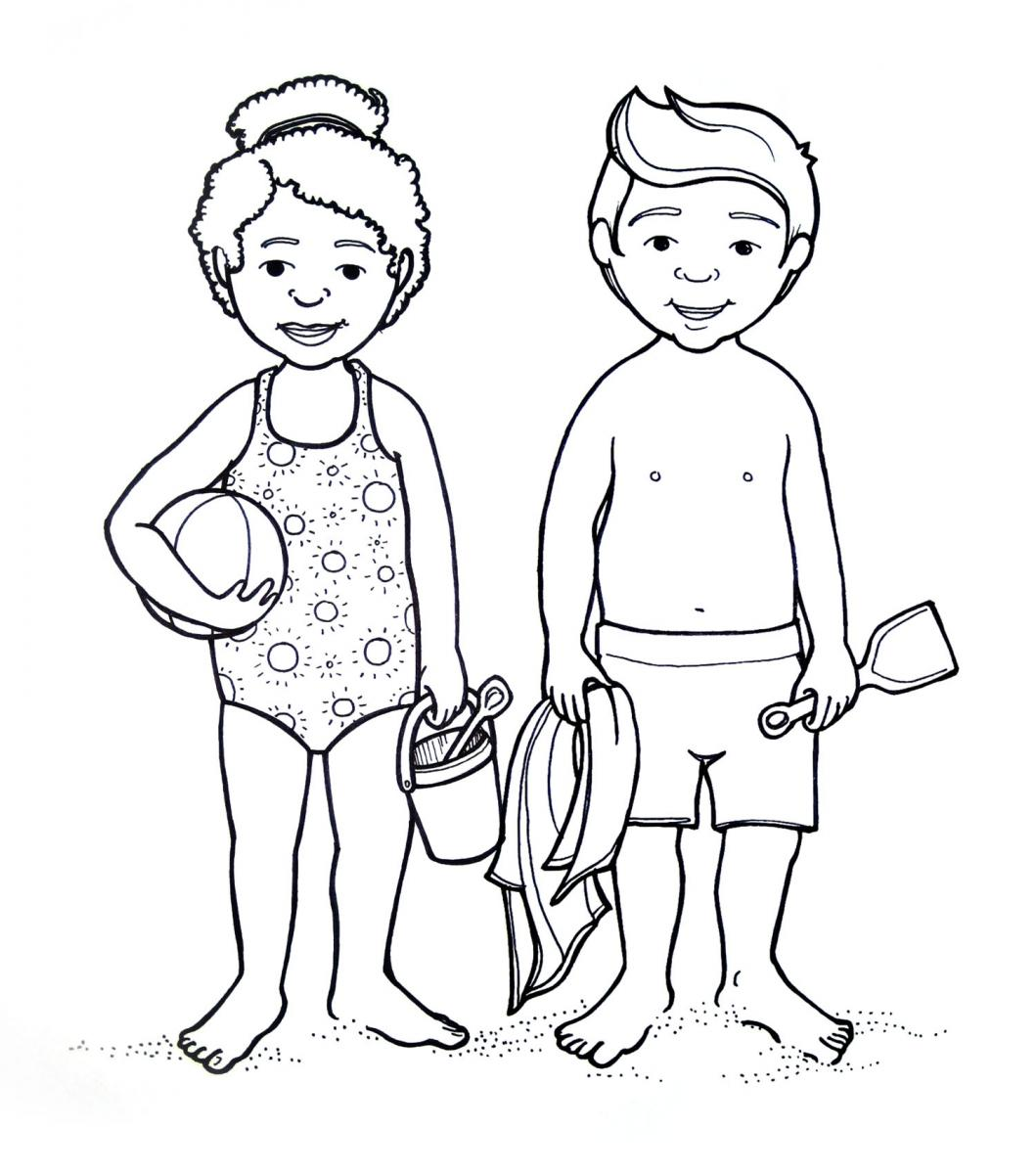 Coloring Pages Kids Parts Body: Female Body Outline Drawing At GetDrawings.com