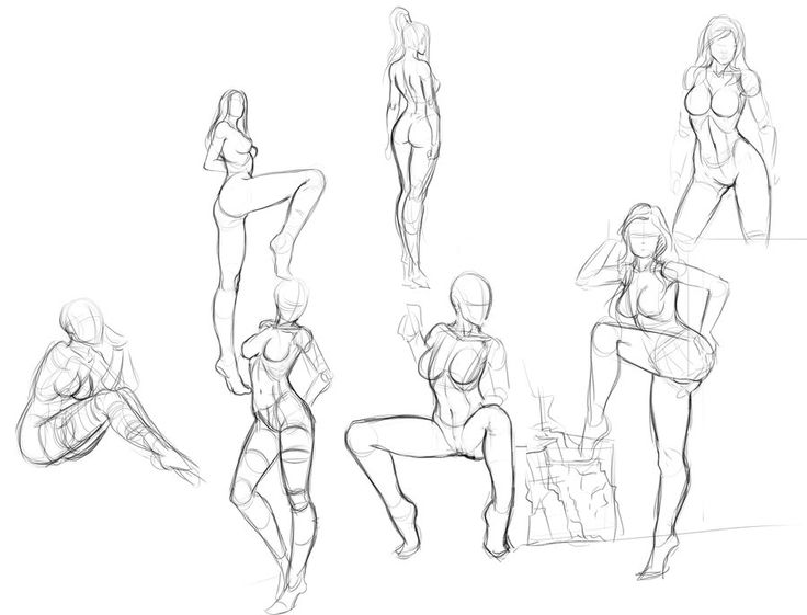 Female Body Reference Drawing at GetDrawings com | Free for