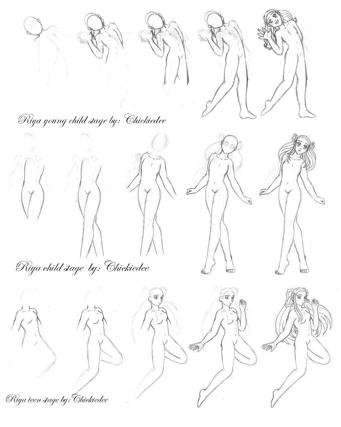 1176x1473 Anime Body Drawing Drawing Anime Girl Body How To Draw Female