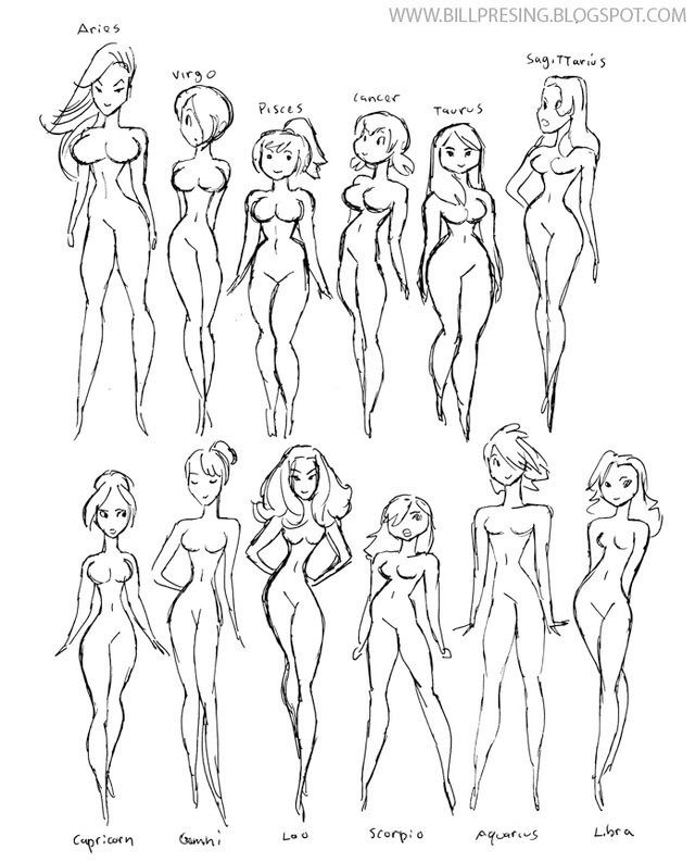 Female Body Shape Drawing At Getdrawings Free For Personal Use