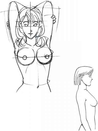 403x539 How Moving The Shoulders And Arms Affects The Shape Of The Breasts