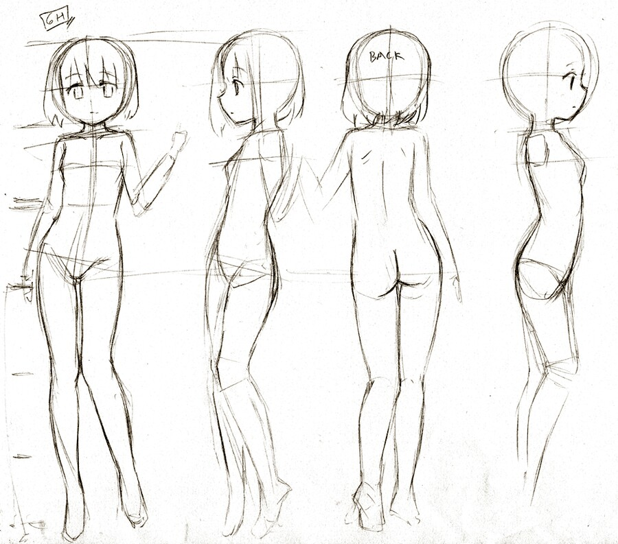 900x793 Body Shape And Poses Help With Animedrawing Body