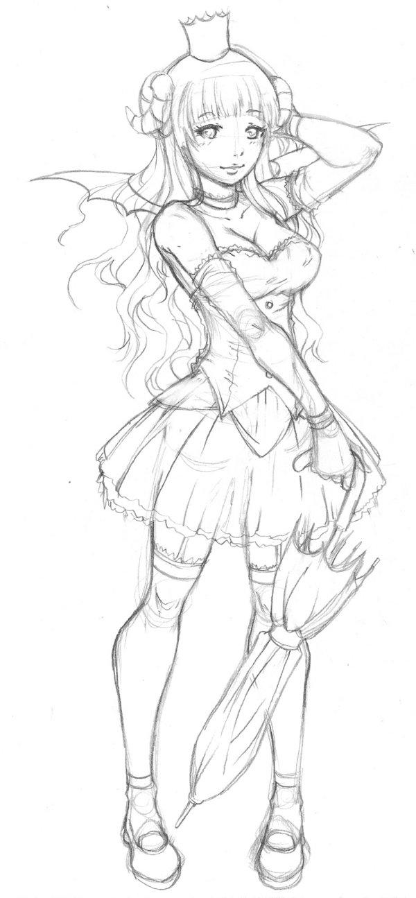600x1295 sheep princess full body sketch by 121642 on deviantart