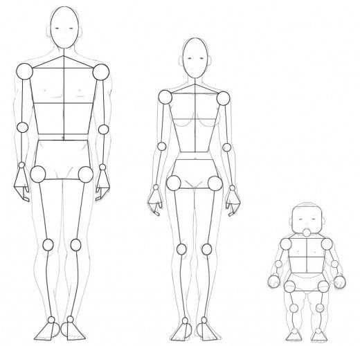 520x500 Drawing The Human Figure Angles Amp Proportions Hubpages