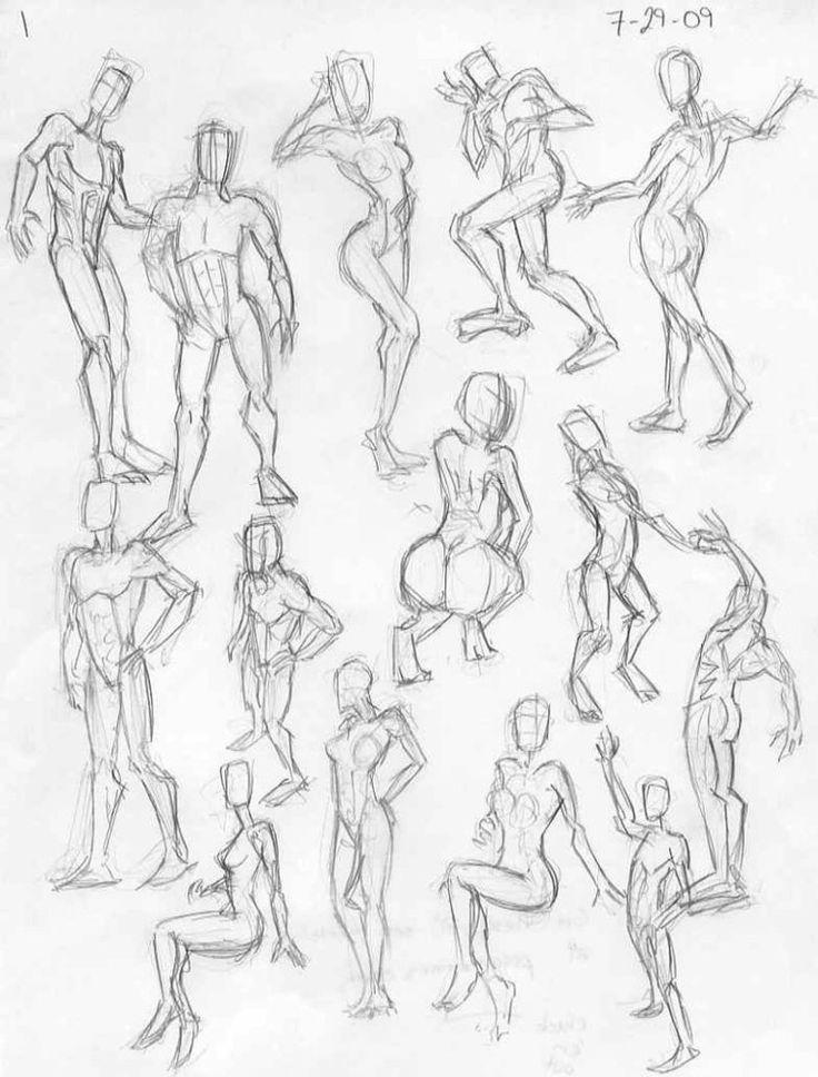 736x968 Female Body Anatomy Sketch