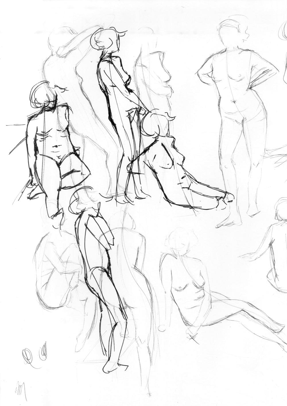 1000x1414 Figure Drawing Jane Woywod