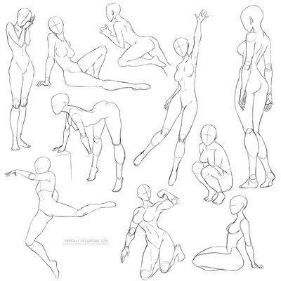 400x400 Gallery How To Draw Female Poses,