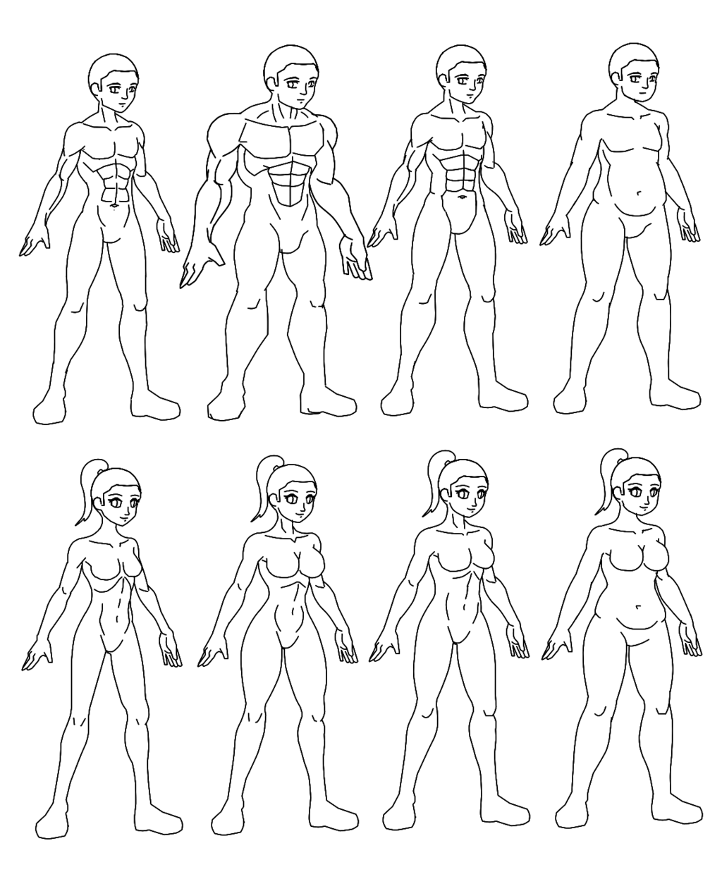 1024x1247 Body Types (Lineart) By Dyz 69