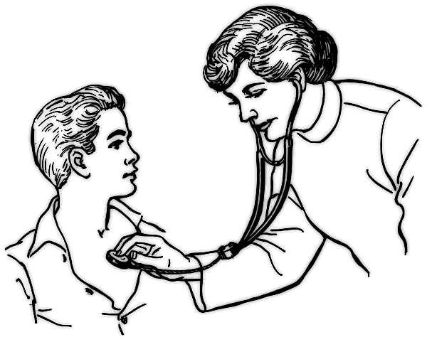 Line Drawing Face Woman : Female doctor drawing at getdrawings free for personal use