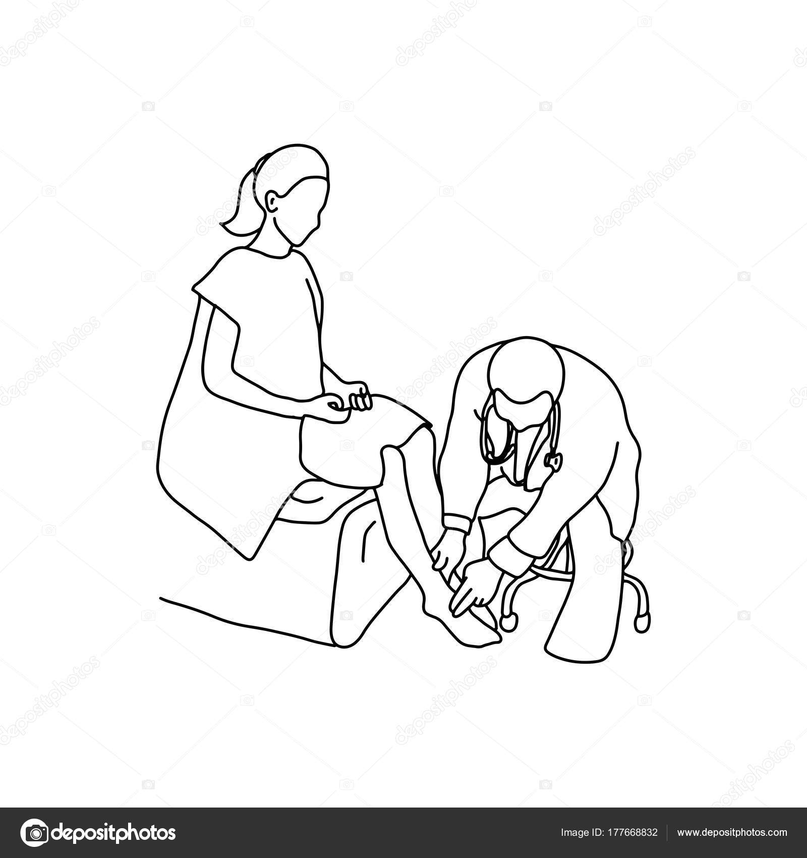 1600x1700 Doctor Examining Foot Muscle Of Female Patient With Hand Vector